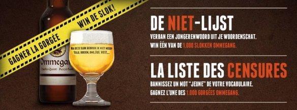 Ommegang bier - De niet-lijst met jongerentaal