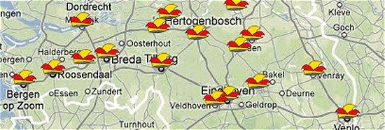 Carnaval - plaatsnamen in Nederland