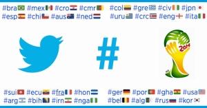Gebruik hashflags op Twitter tijdens het WK