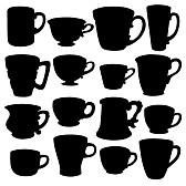 Weglatingsstreepje - Thee- en koffiekopjes